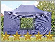 Faltzelt Faltpavillon 3x4,5m 4,5x3m blau mit 4
