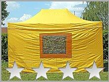 Faltzelt Faltpavillon 3x4,5m 4,5x3m gelb mit 4