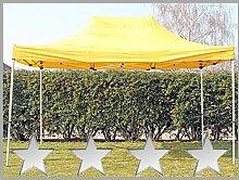 Faltzelt Faltpavillon 3x4,5m 4,5x3m gelb Partyzelt Pavillon Verkaufszelt wasserdich