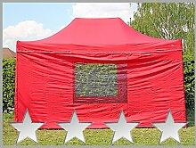 Faltzelt Faltpavillon 3x4,5m 4,5x3m rot mit 4