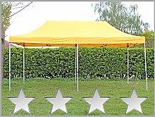 Faltzelt Faltpavillon 3x6m 6x3m gelb Partyzelt Pavillon Verkaufszelt wasserdich