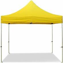 Faltzelt PROFESSIONAL 3x3 ohne Seitenteile Faltpavillon ALU Pavillon Partyzelt in gelb PROFIZELT24