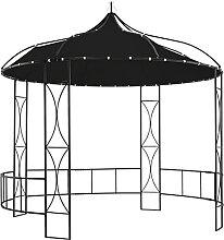 Famehours Pavillon 300 x 290 cm Anthrazit Rund