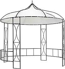 Famehours Pavillon 300 x 290 cm Weiß Rund