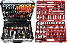FAMEX 414-20 Alu Werkzeugkoffer gefüllt mit TOP