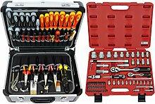 FAMEX 418-20 Alu Werkzeugkoffer gefüllt mit TOP