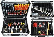 FAMEX 418-89 Alu Werkzeugkoffer gefüllt mit