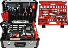 FAMEX 729-18 Alu Werkzeugkoffer Set bestückt
