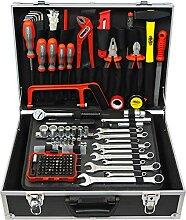 Famex Werkzeuge 758-63 Werkzeugkoffer gefüllt mit