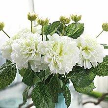 famibay Künstliche Blumen Weiß Kunst