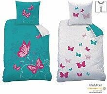 Familando Wende-Bettwäsche Set Butterfly Größe