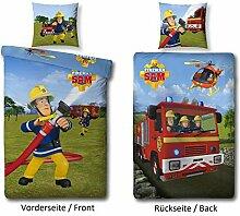 Familando Wende Bettwäsche-Set Feuerwehrmann Sam,