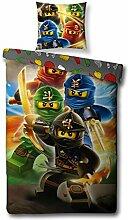 Familando Wende Bettwäsche-Set Lego Ninjago,