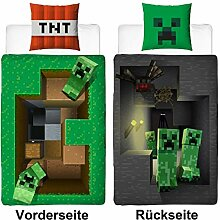 Familando Wende Bettwäsche-Set Minecraft,
