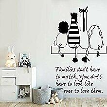 Familie Wandaufkleber Kinderzimmer Aufkleber Tiere