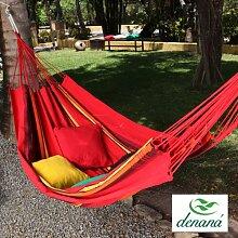Familien Hängematte Solar Vermelha aus 100% Baumwolle Tuchhängematte von Denana