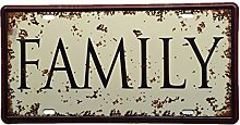 Familien Lizenz AUTO PLATTE Vintage Tin Sign Bar Pub home Wand Dekor Retro Metall Art Poster