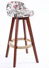 family barstuhl Massivholz Bar Stuhl / Creative Bar Hocker / Continental Bar Hocker / Einfache Retro Bar Hocker / High Hocker barhocker aus holz ( Farbe : C , größe : 50*50*82cm )