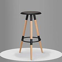 family barstuhl Massivholz Bar Stuhl / High Bar Bar Hocker / einfache Mode Bar Stuhl barhocker aus holz ( Farbe : Schwarz , größe : 37*78.5cm )