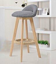 family barstuhl Solide Holz Bar Stuhl / Creative Hochstuhl / Continental Bar Stuhl / Rezeption Retro Bar Hocker / Simple High Hocker barhocker aus holz ( Farbe : D , größe : 35*73cm )