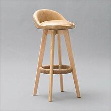 family barstuhl Solide Holz Bar Stuhl Hoch Rücken Stuhl / Continental Bar Hocker / Kreativ Holz Bar Hocker / High Angle Rotary Bar Stuhl barhocker aus holz