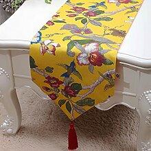 Family table-flag einfache und moderne tischdecke retro-tischläufer und der studie tischläufer.garten-flagge pflanze blumen kaffeetisch schrank flagge.mehrere farben-A 33x150cm(13x59inch)