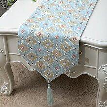 Family table-flag einfache und moderne tischdecke retro-tischläufer und der studie tischläufer.garten-flagge pflanze blumen kaffeetisch schrank flagge.mehrere farben-F 33x200cm(13x79inch)