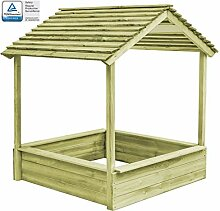 FAMIROSA Garten-Spielhaus mit Sandkasten