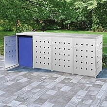 FAMIROSA Mülltonnenbox für 4 Tonnen 240 L