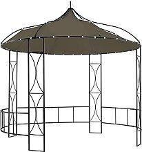 FAMIROSA Pavillon 300x290 cm Taupe Rund