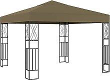 FAMIROSA Pavillon 3x3 m Taupe Stoff