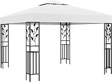 FAMIROSA Pavillon 3x3 m Weiß 180 g/m²