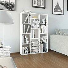 FAMIROSA Raumteiler/Bücherregal Hochglanz-Weiß