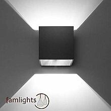 famlights Alicia Wandlampe aus Aluminium, Schwarz