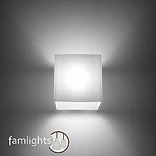 famlights Benjamin Wandlampe aus Glas, Weiß |