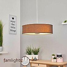 famlights Esszimmerlampe Darinka, braun, 45cm