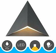 Famlights LED Außen-Wandleuchte aus Aluminium,