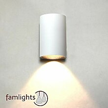 famlights LED Außenwandleuchte Moritz Aluminium,