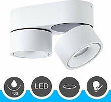 famlights LED Deckenspot 2-flammig, Metall, weiß,