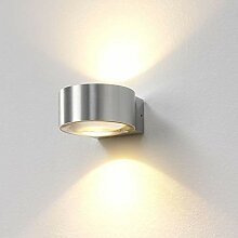 famlights LED-Wandleuchte Hudson in silber, up-&