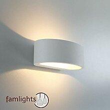 famlights Sharp LED-Außenlampe, weiß, dimmbar |