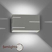 famlights Wandlampe Tabea aus Metall, grau,