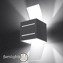 famlights Wandleuchte Artur aus Aluminium, Grau |