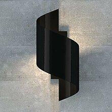 famlights Wandleuchte Tessa aus Metall, Schwarz,