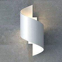 famlights Wandleuchte Tessa aus Metall, Weiß, G9,