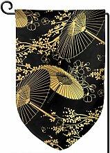 Fan Blume Unbrella Vektor Japanisch Chinesisch