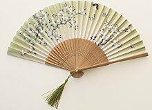 Fan Fan Tanz Sommer klassischen literarischen Männer und Frauen Chinesisch Wind Ventilator, E