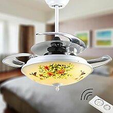 Fan-Leuchter/Restaurant Lichter/Schlafzimmerlampe /Wohnzimmer Deckenventilator Lichter/RetroLEDKreative Licht-Acryl Klingen