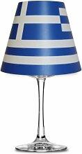 Fanartikel Fußball WM 2014 Brasilien Lampenschirm Glas (Weinglas) Teelicht #1085 (Griechenland)