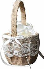 Fangfeen Hochzeit Blumenmädchen Korb Topwedding